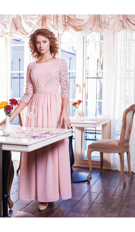 Нарядна довга  сукня мод.5303а