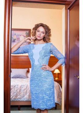 Нарядное гипюровое платье мод.5298